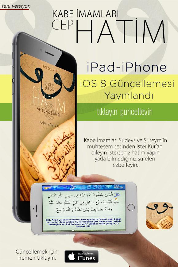 Cep Hatim iPhone ve iPad Güncellememiz YAYINLANDI!